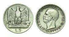 pcc1641_3) Italia regno Vittorio Emanuele III lire 5 aquilino 1926 BL