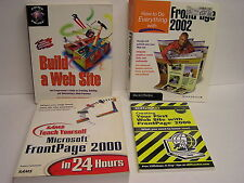 Four Website Creation Books-Great Reference & Use