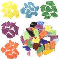 Crash Glass Mosaic tiles for arts and crafts - 500g Various Colours
