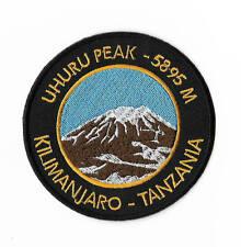 Mount Kilimanjaro Uhuru Peak Tanzania Patch Embroidered Iron on Badge Souvenir