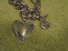 NEW WITH TAGS AND BAG CHICO'S SILVER HEART BRACELET - FREE SHIPPING