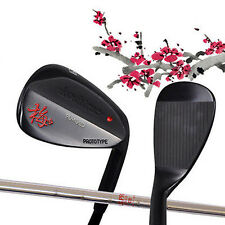 RH NEW FROM JAPAN KOSHIRAE GOLF HAND MADE BLACK WEDGE NS PRO 950GH RED STEEL 51*