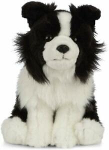 LIVING NATURE 20cm BORDER COLLIE DOG PUPPY SOFT TOY  WITH TAG - NEW  AN460