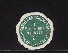 403466/ Siegelmarke - Handelsauskunftei - Rotenturm Strasse 27