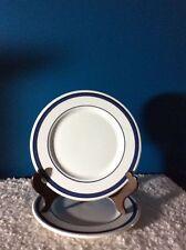 "Nautica Portugal ""Navy Blue""  8-1/4"" Salad Plates (2)   ~Discontinued~ 2000-2004"