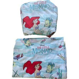 VTG 90s Disney Little Mermaid/Ariel Twin Sheet Set