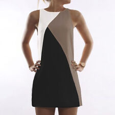 Womens Summer Sleeveless Mini Tank Dress Ladies Casual Beach Sundress Plus Size