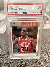 1987 Fleer Basketball Michael Jordan #59 PSA 7 NRMT Great Eye Appeal Sharp Edges