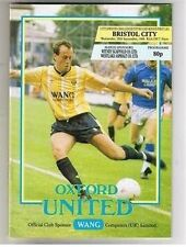 Oxford United Football League Cup Fixture Programmes (1980s)