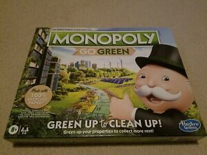Monopoly Go Green Edition Board Game by Hasbro Brand New Sealed