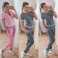 Femme 2pcs Pantalon de jogging sweat à capuche pull Set costume décontracté