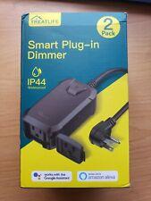 Treatlife Smart Plug In Dimmer.New Open Box.Dp10.Ip44 Waterproof 2 pack!
