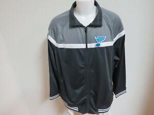 New Sz S-2XL Charcoal Gray Full Zip Up Nhl Mens Polyester #83V Track Jacket
