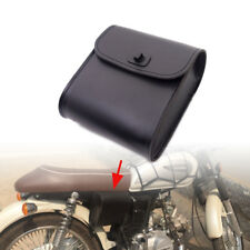 Universal Motorcycle Black PU Leather Handlebar Sissy Bar Saddlebag Tool bag