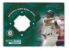 2001 Studio Diamond Collection #DC37 Miguel Tejada JERSEY A's