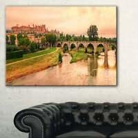 Cite de Carcassonne Panorama - Landscape Wall Art Canvas  Small