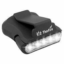 ThorFire Cap Hat Light 5-LED Headlamp Rotatable Ball Cap Visor Light Clip-on Hat