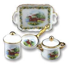 Afternoon Dessert Set Puppenstube 1:12 Reutter Porzellan Englische Teetime