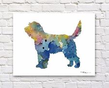 "Otterhound Abstract Watercolor 11"" x 14"" Art Print by Artist Dj Rogers"