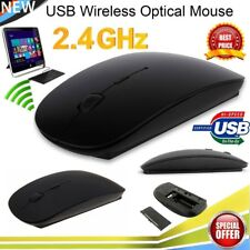 Black 2.4G USB Wireless Cordless Touch Scroll Mouse for PC Apple Macbook Laptop