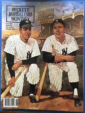 1991 Beckett Baseball Card Monthly Price Guide June Mickey Mantle Joe DiMaggio