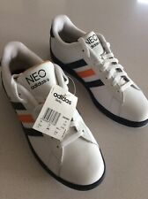 Nuevas Zapatillas Adidas Para Hombre 10 Cuero Blanco Reino Unido Entrenadores EU 44 2/3 Zapatos Originals