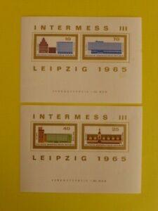 DDR aus 1965 -  Block 23 + 24 postfrisch (117)