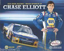 "2015 CHASE ELLIOTT ""NAPA AUTO PARTS CHAMPION"" #9 NASCAR XFINITY SERIES POSTCARD"