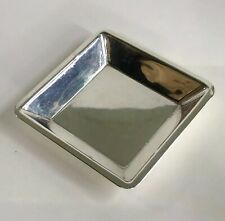 RARE! Vintage Cartier Sterling Silver Small Square Trinket Ash Tray