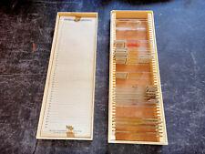 Ancien coffret de préparations microscopiques - 20 lames microscope lichen boeuf