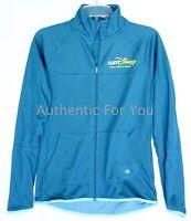 NEW Run DIsney Women's Teal Powertrain Track Jacket by Champion runDisney S M XL