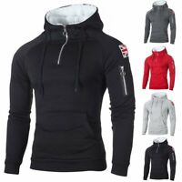 Men's Winter Slim Hoodie Warm Fleece Hood Sweatshirt Coat Jacket Outwear Sweater