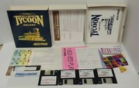 "Sid Meier's Railroad Tycoon Deluxe (1993) Micro Prose 3.5"" Big Box Complete IBM"