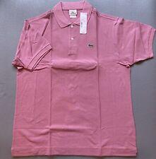LACOSTE-Men's Classic Fit Pique Polo Pink Brand NWT Sz L 6