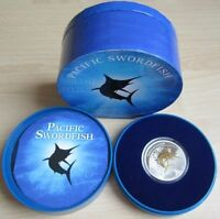 Fiji 2 Dollars 2011 Pacific Swordfish Gilded 1 Oz Silber