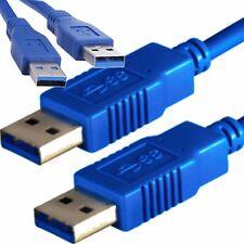 STECKER AA USB 3.0 Anschluß Kabel 50cm BLAU A A 0,5m PREMiUM Verbindungskabel 😎