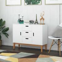 Wooden Cabinet Cupboard 2 Door 3 Drawer Sideboard Storage Unit Laundry Organizer