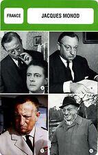 Actor Card. Fiche Cinéma Acteurs. Jacques Monod (France)