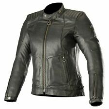 Alpinestars Gal Leather Motorcycle Jacket Women Ladies Biker Black Size XL