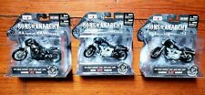 COMPLETE SONS OF ANARCHY HARLEY DAVIDSON MOTORCYCLE TOY SET OPIE JAX CLAY MAISTO
