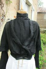 Antique French Handmade Victorian 1800s Womens Ladies Bodice Jacket Blouse