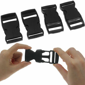 20x Plastic Strap Side Webbing Release Buckles Clasp 1'' For Outdoor Supplies