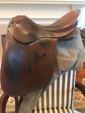 "Niedersuss Olympic dressage saddle, brown, wide tree, 17"" seat"