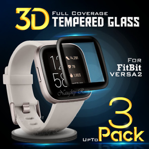 For Fitbit Versa 2 2019 Full Coverage Screen Protector Tempered Glass film Guard