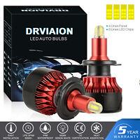 2020 8 côté 200W 30000LM H7 CREE LED Ampoule Voiture Feux Phare Lampe HID Xénon