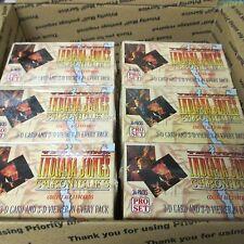 6 BOX LOT + 36 Packs 1992 Young Indiana Jones Chronicles Pack Box Pro Set