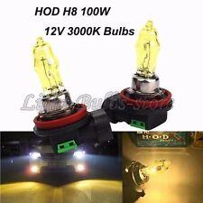 2x H8 3000K HOD Halogen Lamp Bulbs 100W 12V Golden Yellow Daytime Diving Light