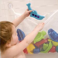 White Baby Bath Shower Toy Tidy Storage Bag Bathroom Organizer Net Pouch Np2Z