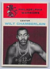 "1961-62  WILT CHAMBERLAIN - Fleer ""ROOKIE REPRINT"" Basketball Card # 8 - PHIL."