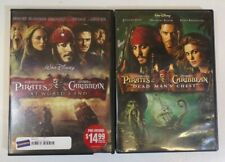 """2 Disney """"Pirates of The Caribbean"""" Dvd Movies: At Worlds End & Dead Man's Chest"""